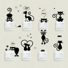 Lovely Cat Light Switch Wall Stickers Home Decor Cartoon Wall Decals Mural Art