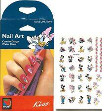 Disney Mickey Minnie Valentines Love Donald Daisy Nail Art Sticker Decal Set NEW