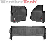 WeatherTech FloorLiner - Ford Super Duty SuperCrew w/o Shifter -2012-2016-Black