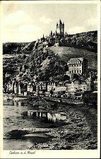 Stempel u. Postkarte von COCHEM Mosel Rheinland-Pfalz s/w AK 1960 Häuser Partie