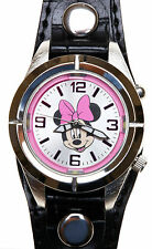 DISNEY AUTHENTIC MINNIE MOUSE LIGHT UP WATCH ladies silvertone