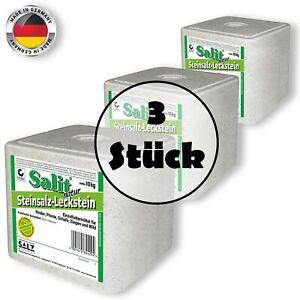 Salit Steinsalz Leckstein natur 30kg Nahrungsergänzung Einzelfuttermittel