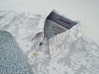 """TED BAKER Mens Shirt 🌍 Size 5 (CHEST 44"""") 🌎RRP £65-129+📮 FLORAL LIBERTY PRINT"""