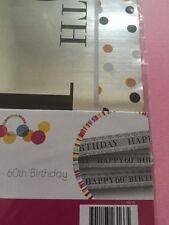 Happy 60th Birthday Foil Banner