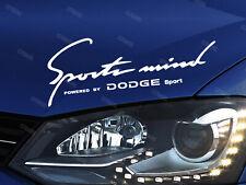 Dodge Sports Mind Sticker for Bonnet RAM Charger Challenger SRT Journey White