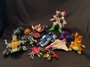 Lot 2000s Power Ranger Transformer Happy Meal Action Figures Toys Parts