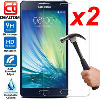 2X 9H+ Tempered Glass Screen Protector For Samsung Galaxy A3 A5 A7 2016/2017 NEW