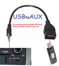 3.5mm Male AUX Audio Plug to USB 2.0 A Female Jack OTG Convertr Lead Adapter BLK