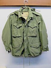 Korea Vietnam US Army Field M-1951 jacket OD terry Liner VTG 1964 Sateen M short