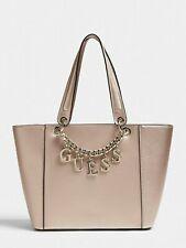 GUESS Champagne Pink Handbag, Large Size, Brand New, Women's Tote Shoulder Bag