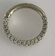 Maria Tash Earring - Clicker Hoop Front Facting Stones Yellow Gold 14k Cz £330rr