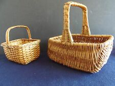 2 Egg Baskets Assorted Styles Crafting Crafts Collectible Country Decor