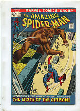 THE AMAZING SPIDER-MAN #110 (8.5) THE BIRTH OF THE GIBBON ! 1ST APP, 1972