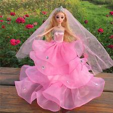 Prinzessin Kleider Hochzeit Kleidung Outfits Kleid für Barbie Doll MODE