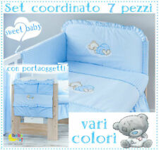 Set coordinato + Porta oggetti per lettino,culla vari colori prezzo conveniente