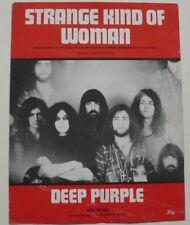 DEEP PURPLE ~ Strange Kind Of Woman Original UK 70s Sheet Music.