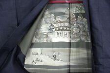 羽織 Haori - Chaqueta japonesa - Templo, río y Fuji - hecho en Japón 1407 XL