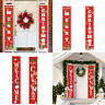 Merry Christmas Banner Wall Hanging Curtain Door Curtain Home Party Decor Supply