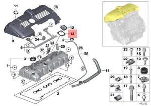 Genuine BMW E90 E60 F10 F01 E65 Engine Oil Filler Cap Profile Gasket 11127565165