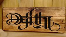 LIFE DEATH Ambigram Plaque Signs Fun Birthday gift Lord of the Ring Old English
