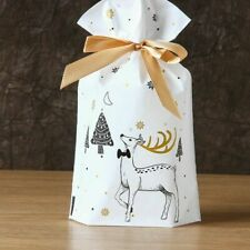 5Pcs Candy Cookies Gift Bags With Ribbon Christmas Gift Bags Party