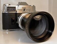 KODAK RETINA REFLEX IV + Schneider-Kreuznach TELE-XENAR f4.8 200mm Lens