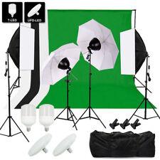 Hintergrundsystem Hintergrund Fotostudio Set Komplett Foto LED Studioleuchte