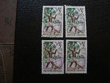 polinesia - francobollo yvert E tellier n° 6 x4 obliterati (A20) stamp (E)