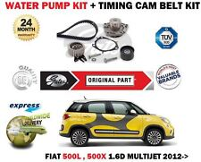Per FIAT 500L 500X 1.6 D Multijet 2012-11/2015 POMPA ACQUA + Timing Cam Belt Kit