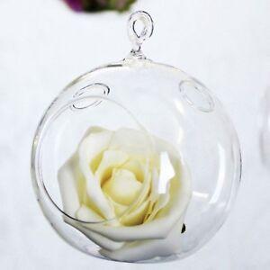 Wedding decor hanging glass bubble x3 tea light or flower wishing tree ornament