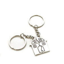 2 X Couple House Key Chain Gift Trinket for Lovers Alloy Jewerly Sweetheart Rx
