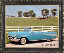 1957 Chevy Bel Air Brad Wagner Vintage Car Wall Decor Art Print Framed Picture