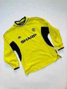 MANCHESTER UNITED 1999/2000 GK FOOTBALL SHIRT SOCCER JERSEY Y-L KIDS