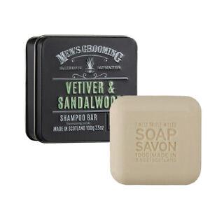 The Scottish Fine Soaps Company Vetiver & Sandalwood Shampoo Bar, Imported