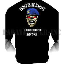 Tee-Shirt Le Diable Marche avec Nous (Troupes de Marine)
