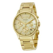 Armani Exchange Smart Gold-Tone Dial Ladies Chronograph Watch AX4327