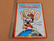 TOPOLINO PLACCA METALLICA COMMEMORATIVA 1500 NUMERI ANNO 1984 MOUSE MICKEY