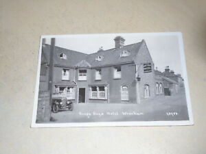 EARLY  1906 REAL PHOTO PC - KING'S HEAD HOTEL, WROXHAM, NORFOLK BROADS, NORFOLK