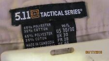 5.11 Tactical Cargo Khaki Beige Pants size 30 waist 30 inseam