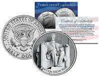 LINCOLN MEMORIAL ** Washington D.C. **  JFK Kennedy Half Dollar U.S. Coin