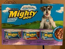 Purina Mighty Dog Gravy Wet Dog Food Variety Pack, Thick-Sliced Chicken, Beef &
