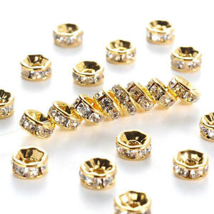 40/80Pcs 6 8mm Crystal Rondelle Loose Beads Jewelry Making Wholesale Pendant