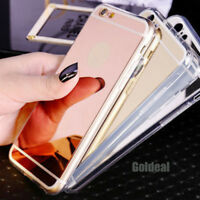Luxury Ultra-Thin Soft Silicone TPU Mirror Case For Apple iPhone 6s 7 8 Plus X