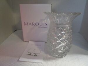 """Marquis by Waterford  6.25"""" Wedge Crystal Pineapple Vase NEW & Mint in Box"""