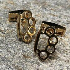 Brass Knuckle Cufflinks / Brass Knuckle Jewelry