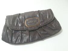 Ladies  Small Guess Clutch Bag Purse Bag Brown