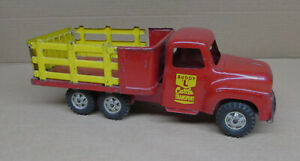 BUDDY L CATTLE TRANSPORT TRUCK Old Toy 1950's COMPLETE Tandem Wheels