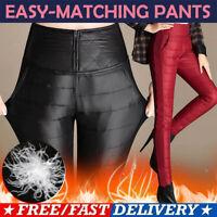 Winter Women Ladies Duck Down Pants Warm Thicken Wind-proof High Waist Trouser