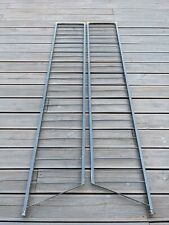 "2 x Black 1960s Retro Staples Ladderax Metal 78"" Ladders Shelf End Support"