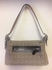 Coach Signature Canvas / Leather purse  Baguette Bag F3J-6332 VERY CLEAN